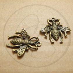 Charms ciondolo Calabrone in metallo bronzo 26 mm