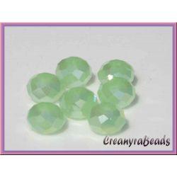 40 pz Rondella briolette mezzo cristallo Verde opal 4 mm