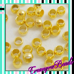 100 pezzi Schiaccini dorati 2x1,5 mm