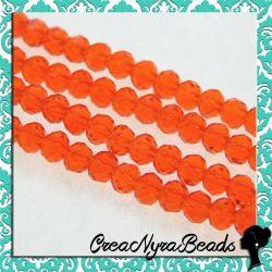 40 pz Rondella mezzo cristallo Coral Rosso Matt 4 mm cipollotti