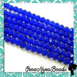40 pz Rondella mezzo cristallo Blu Petrolio 4 mm cipollotti
