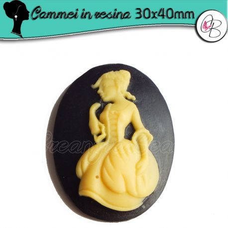 Cabochon Cammeo in resina Sabbia Dama 800 40x30 mm