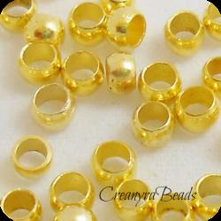 50 pezzi Schiaccini dorati 2x1,5 mm