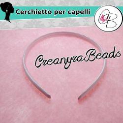 Cerchietto capelli rivestito rosa pallido  da completare misura 2