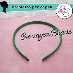 Cerchietto capelli rivestito smeraldo da completare misura 2