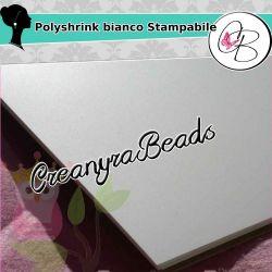 1 Foglio POLYSHRINK Stampabile bianco 267x203