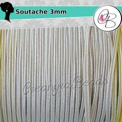 3 Metri Filato piattina soutache 3 mm colore Beige 52