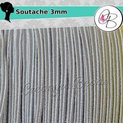 3 Metri Filato piattina soutache 3 mm colore Grigio chiaro 54