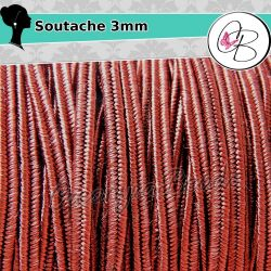3 Metri Filato piattina soutache 3 mm colore Bordeaux 14
