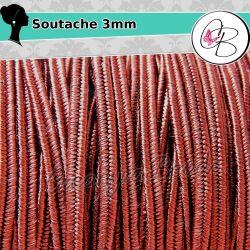1 Metro Filato soutache piattina da 3 mm colore Bordeaux 14