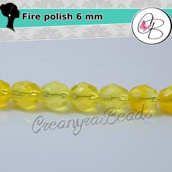 20 Pz Perle Cristallo fire polish lt hyacinth 6 mm