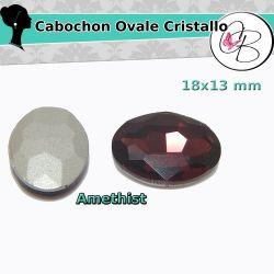 2 Pz Cabochon Ovali cristallo Amethyst 13X18mm pietra da incastonare
