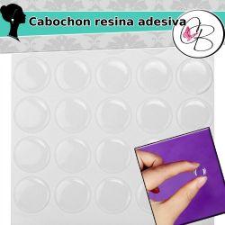 10 Pz Cabochon cammeo tondo in resina adesiva  16 mm
