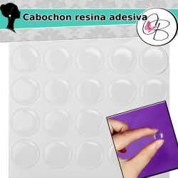 10 pz cabochon cammeo in resina adesiva