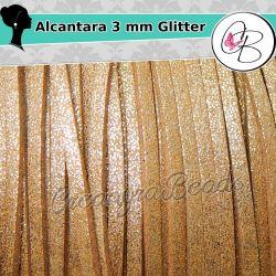 3 Mt alcantara Bronzo glitter  3 mm spessore 1,5