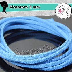 1 Mt alcantara col.  Denim Blu  3 mm spessore 1,5