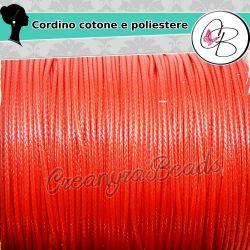 85 Mt (1 bobina intera) filo di cordino poliestere Rosso 1 mm