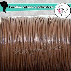 85 Mt (1 bobina intera) filo di cordino poliestere Caffè extra lucido 1 mm
