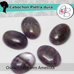 Cabochon Ovale Pietra dura 13X18mm Ametista