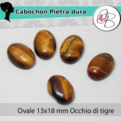 Cabochon Ovale Pietra dura 13X18mm Opalite