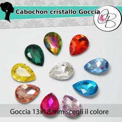 Cabochon Goccia in cristallo Drops 13x18mm SCEGLI IL COLORE