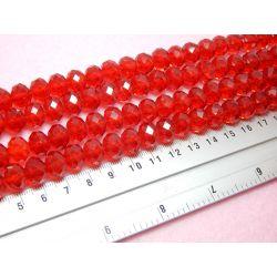 10 Perle Rondella Cristallo briolette rosso  12 mm