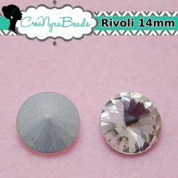 1 Pz Rivoli cabochon tondo crystal 14 mm