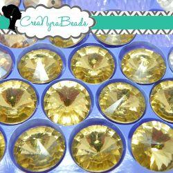 1 Pz Rivoli Cristallo Jounquil  14 mm