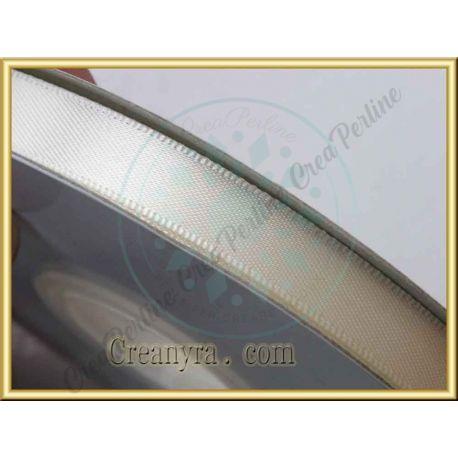 1 Mt Nastro doppio raso panna 10 mm