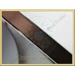 1 Mt Nastro doppio raso Cioccolato 850 10 mm