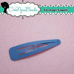 Fermaglio clic clac Metallo Bluette 6,5x1.7 cm