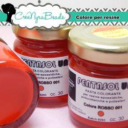 Pentasol UN ROSSO 001 30 ml PROCHIMA Colorante per resina