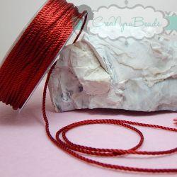 3 metri Cordino in Viscosa 1,5 mm  ritorto 3 capi colore Rosso Granata 13