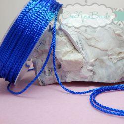 3 metri Cordino in Viscosa 1,5 mm  ritorto 3 capi colore Bluette 15
