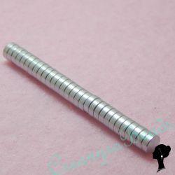 10 Pz Calamita in neodimio  9 mm Alte 2 mm