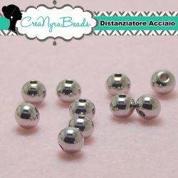 10  Pz Perla in acciaio inossidabile senza giunture  Ø 6 mm