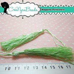 Pendente ciondolo Nappina tono Verde Chiaro in poliestere 8 cm