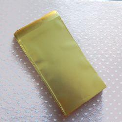 10 Pz Sacchetto regalo cellophane Oro Satinato autoadesivo 23x12 cm