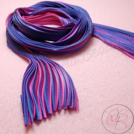 10 Cm Nastro Seta Shibori colore Fuchsia Passion