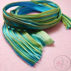 10 Cm Nastro Seta Shibori colore Marmeid