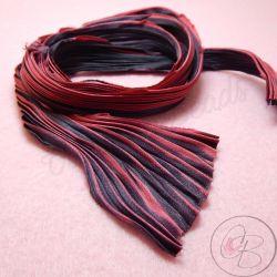 10 Cm Nastro Seta Shibori colore Hot Lava