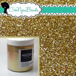 GLITTER  008  PROCHIMA PRO-021 LIGHT GOLD  10 grammi PER RESINE