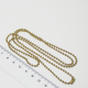 Base per Catenina 75 cm  in acciaio inox dorato pallini 2.4mmmm