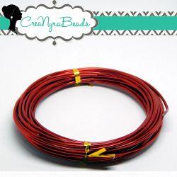 6 mt. Cavetto in alluminio wire 1,5 mm Rosso