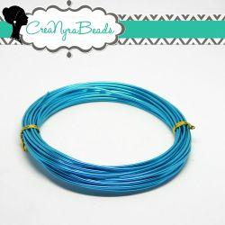 6 mt. Cavetto in alluminio wire 1,5 mm Turchese