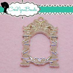 Charms Ciondolo Bezel Cavo Arco  in metallo tono oro