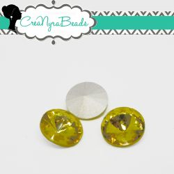 1 Pz Rivoli Cristallo Citrine  14 mm