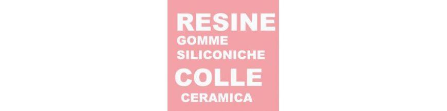 RESINE GLITTER  GOMME SILICONICHE COLLE CERAMICA