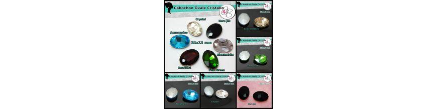 Cabochon Ovale Cristallo 18x13