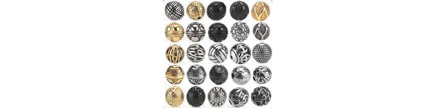 Perle in Metallo e acciaio